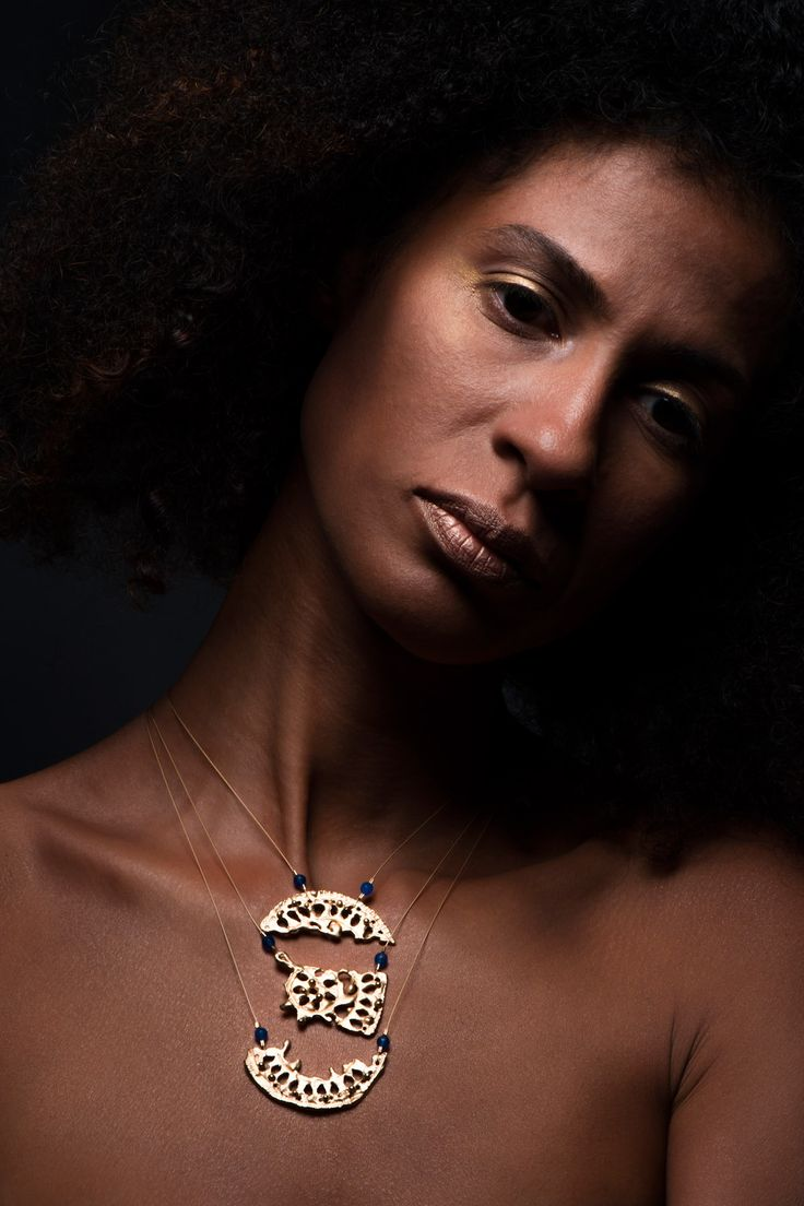 """Contemporary jewelry, limited collection """"The heart of the treasure. Anayd Blu"""