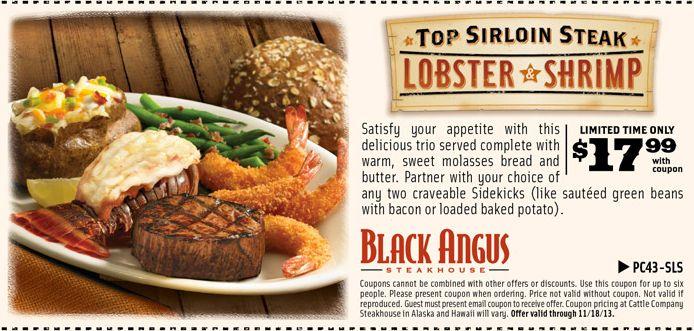 Black angus discounts coupons