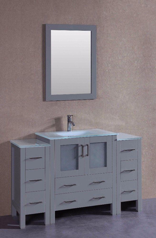 54 Bosconi Agr130ewgu2s Single Vanity Single Bathroom Vanity