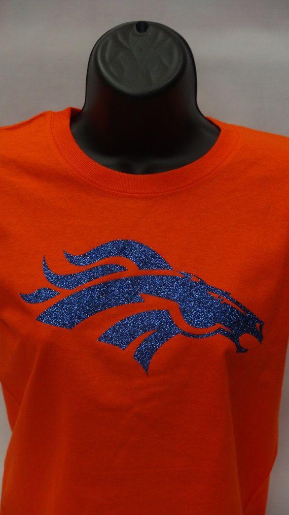 Denver Broncos Super Bowl sparkle blue glitter by UNIDESIGNS, $24.99
