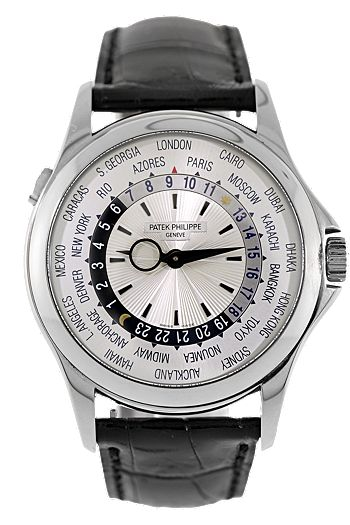 Patek Philippe 18K White Gold World Time Automatic