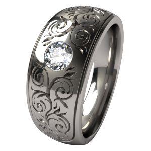 Sophia Titanium Engagement Ring