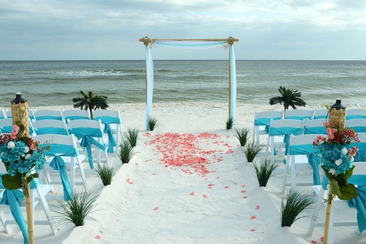 Turkis Und Coral Panama City Beach Florida Bestimmungsortstrandhochzeit Beach City Cor Hochzeit Florida Panama