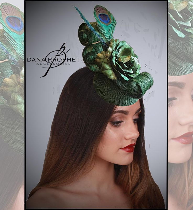 Peacock Lyric Sinamay Fascinator. Peacock feathers, a flower and lots of swirls! https://danaprophetaccessories.com/fascinators/lyric-in-peacock/  In South Africa? Go to @desch_luxury_wear in Sandton City to see even more fascinators! http://www.desch.co.za  #hat #fascinators #races #durbanjuly #horse #horserace #southafrica #style #kentuckyderby #trending #royal #sinamay #celebrations #weddings #bridal  #bridesmaids #derbyhat #headpiece #
