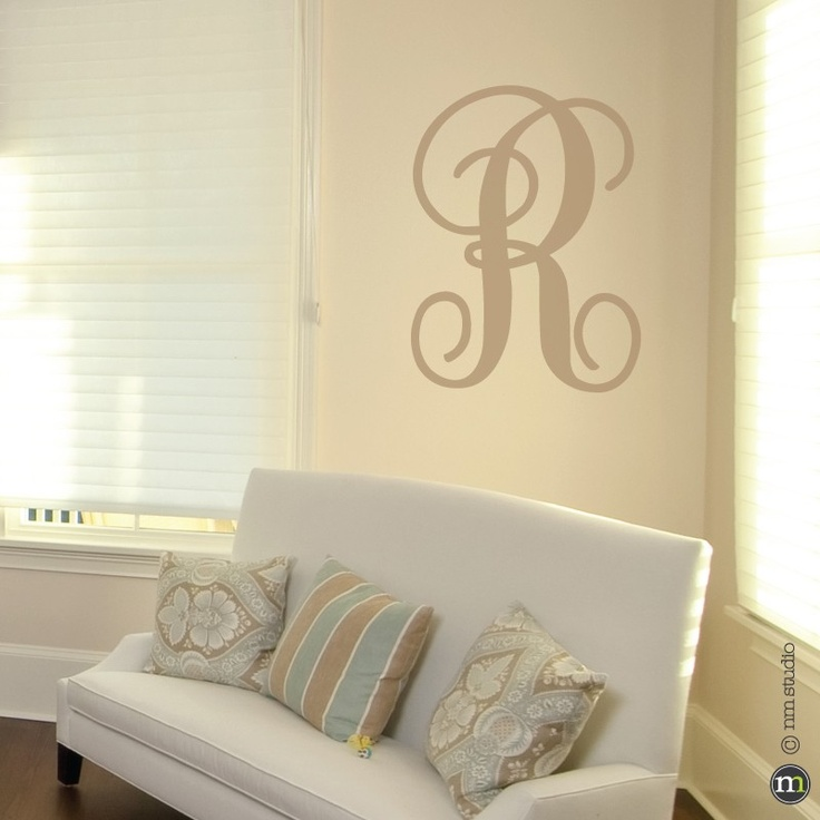 Best Kid Wall Decals Images On Pinterest - Monogram wall decals letters