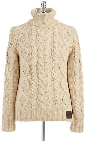 Superdry Turtleneck Cable Knit Sweater on shopstyle.com