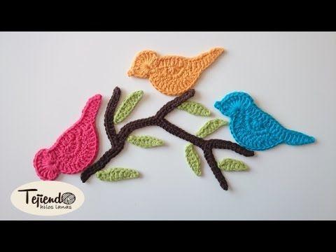 Crochet Bird Applique. Pajaritos a ganchillo. facebook: https://www.facebook.com/profile.php?id=100007670955173