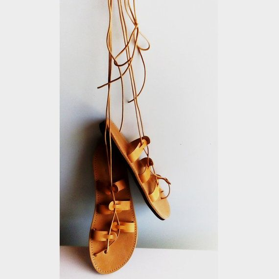 Tie up gladiator sandals, Ancient greek sandals, Leather sandals, Beach sandals, Women sandals, Lace up gladiator sandals, Genuine leather