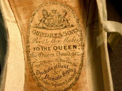 The inside label of Queen Victoria's wedding shoes. Both pins via Leimomi Oakes, aka the Dreamstress.