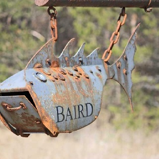 fish mail box baird #mypostcard