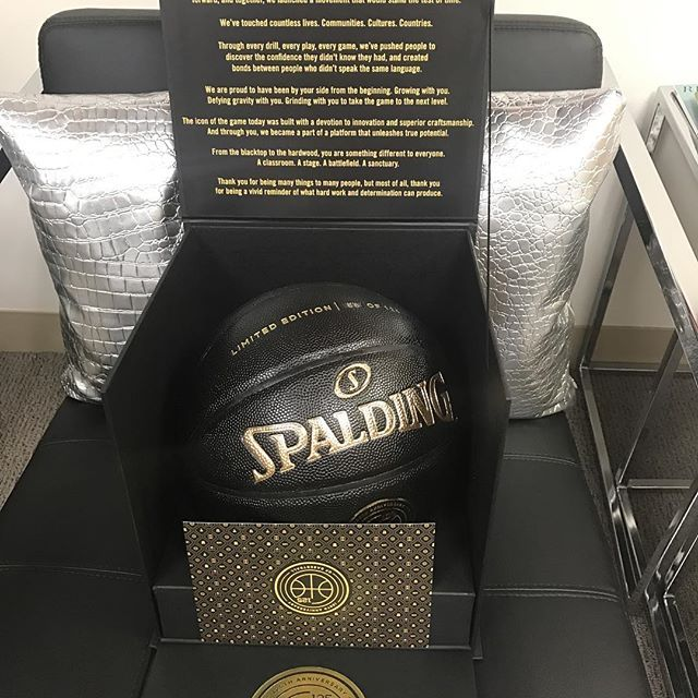 Kevin Hart @kevinhart4real: Major s/o to @spaldingball for this Limited Edition 125th Anniversary basketball