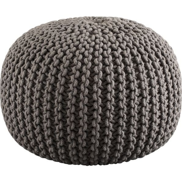Knitted pillow pouf