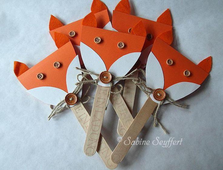 DIY Invitation Fox Party by Blog Sabine Seyffert //       Einladung  #Kindergeburtstag #Geburtstagseinladung