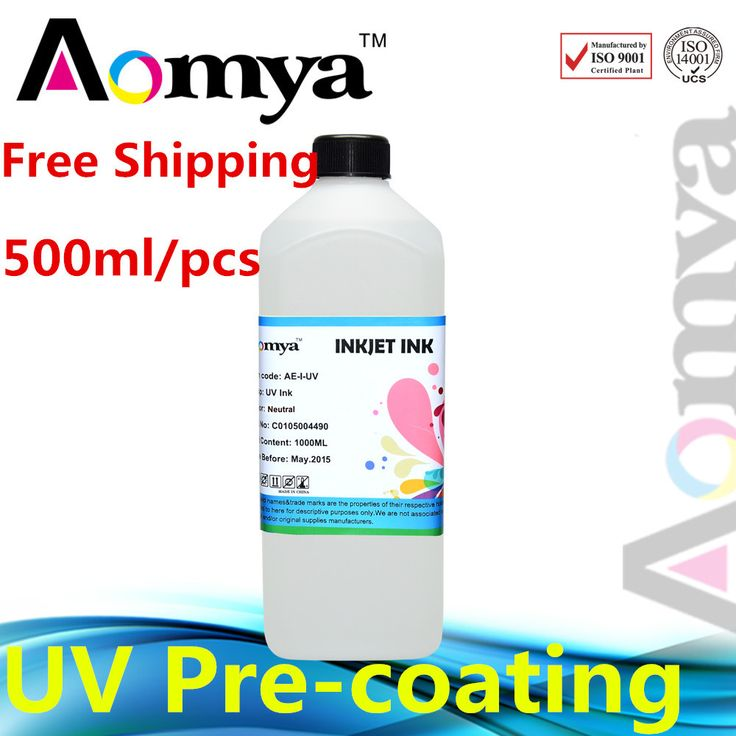 [500ml] Pre-coating for UV ink / UV mercury ink / 3D UV LED Ink for smooth surface glass or metal printing