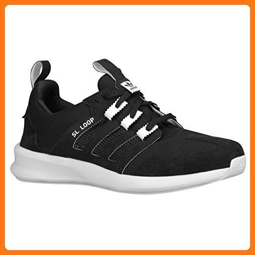 Adidas Originals Loop Runner Running Sneaker Shoe - Black/White - Kids - 6