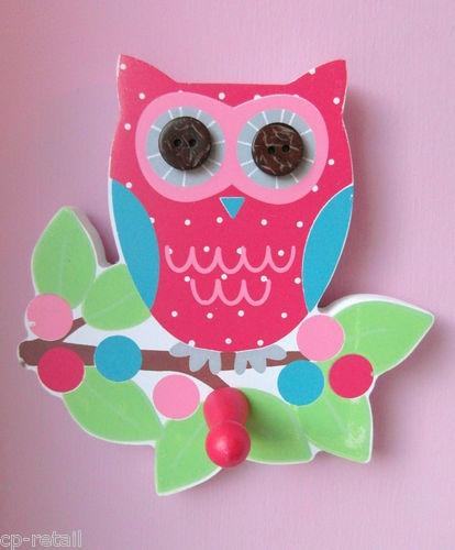 Wonderful Owl Door/Wall Hook   Pink   BNWT   Bedroom Accessory   Gift | EBay