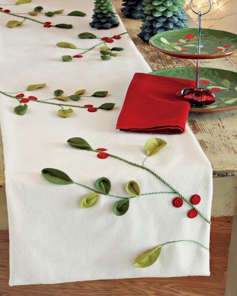 Mistletoe Felt Table Runner from Origin Crafts