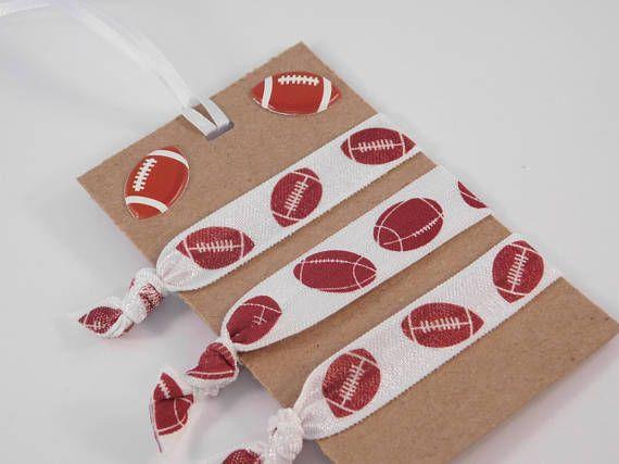 Football Hair Ties  Football Fan Gift  Sports Hair Ties