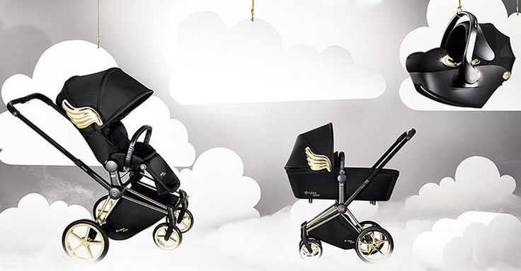 Cybex by Jeremy Scott - fit for an angel, a gilded pram with wings! #Cybex, #Design, #Prams