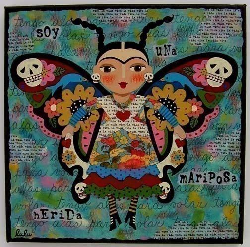 Frida Kahlo butterfly by Lulu