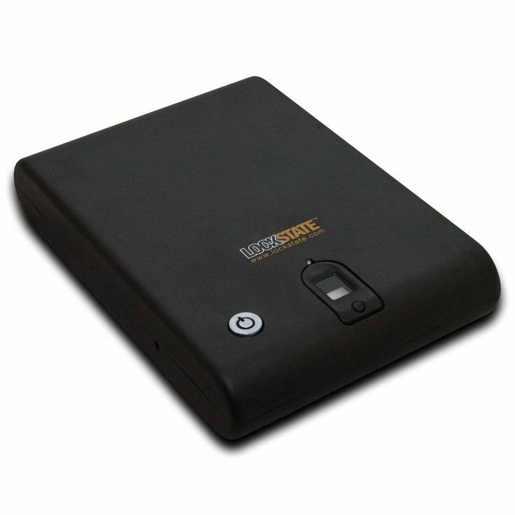 Fingerprint Biometric Lock Security SafeCase, Black