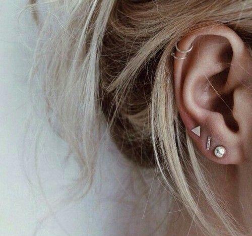grafika piercing, earrings, and ear