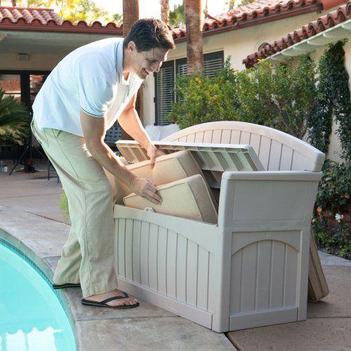 114 sale price suncast pb6700 ultimate 50 gallon resin patio storage bench