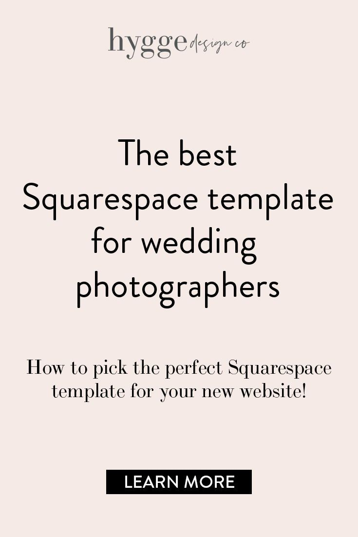 The Best Squarespace Template For Wedding Photographers Hyggedesign Co Squarespace Templates Best Squarespace Template Squarespace
