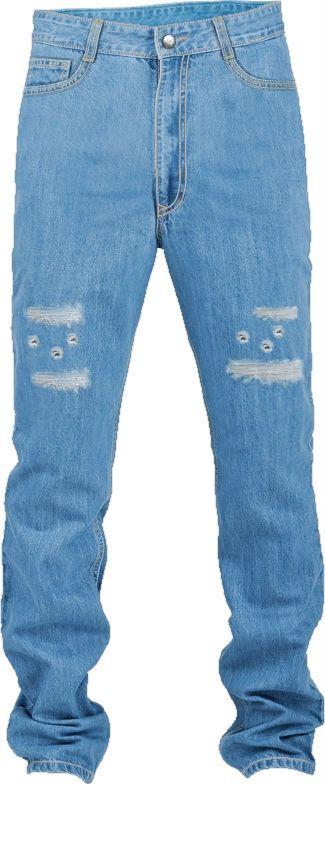 Distressed slim jeans for men