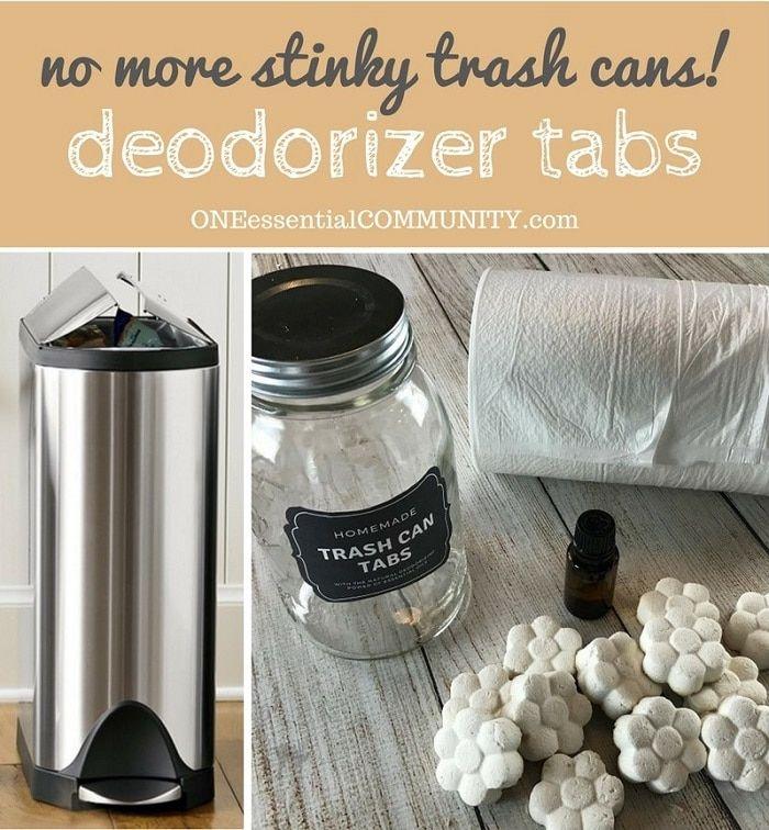 DIY Trash Can Deodorizer Tabs – no more stinky trash cans!