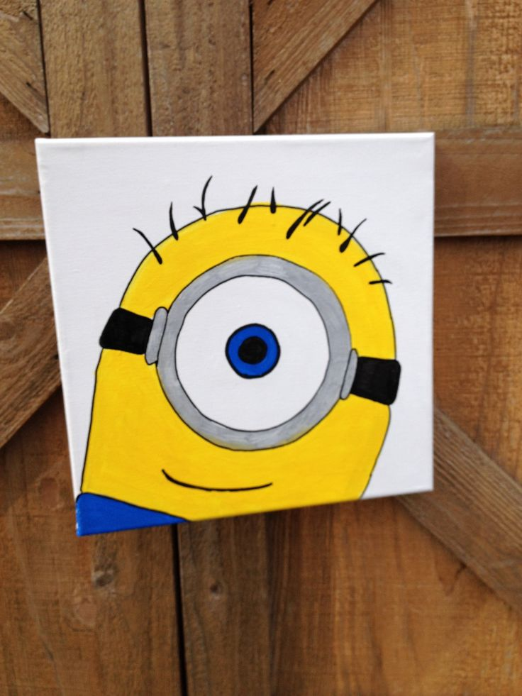 Despicable Me Minion Painting by WorksofWhimsyWallArt on Etsy, $18.00