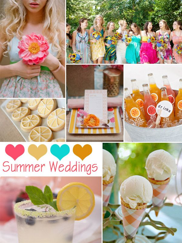 18 best summer wedding color schemes images on pinterest for Summer wedding color combinations