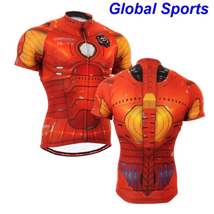 ==> [Free Shipping] Buy Best 2017 Brand Team Ironman Cycling Jerseys Bike Shirts Iron Man Bicycle Wear male man spideman Short Clothing Ciclismo Online with LOWEST Price | 32560200103