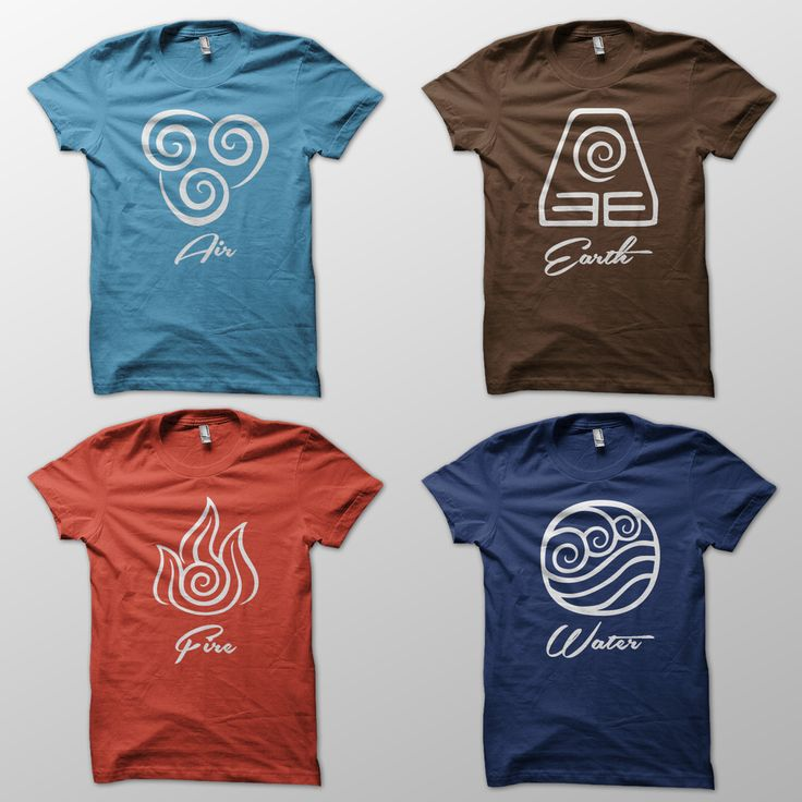 Avatar: The Last Airbender inspired shirt designs. I need these!!!