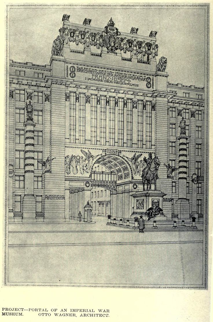 Otto Wagner's design for an Imperial War Ministry Building, Vienna