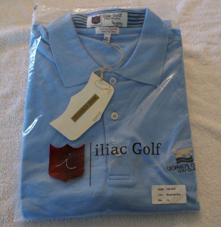 Iliac Golf Mens Polo Size XL Luxury Hybrid Tour Quality NEW w/tags! #IliacGolf #PoloShirt