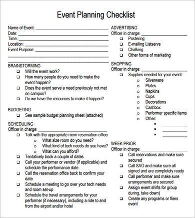 25+ unique Event planning checklist ideas on Pinterest Event - creating checklist