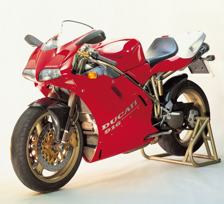 Ducati 916: I've wanted one these since I was a teenager; saw my first in Germany. Nothing beats the wicked sound of a Desmo valvetrain...