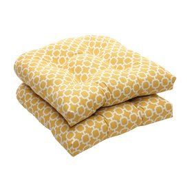 Pillow Perfect Hockley Yellow Geometric Seat Pad For Universal 450353