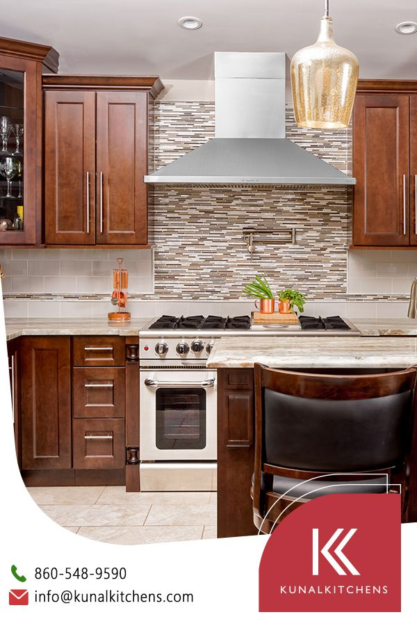 Brown Colored Cabinets Made Of Pure Wood With Modern Design And