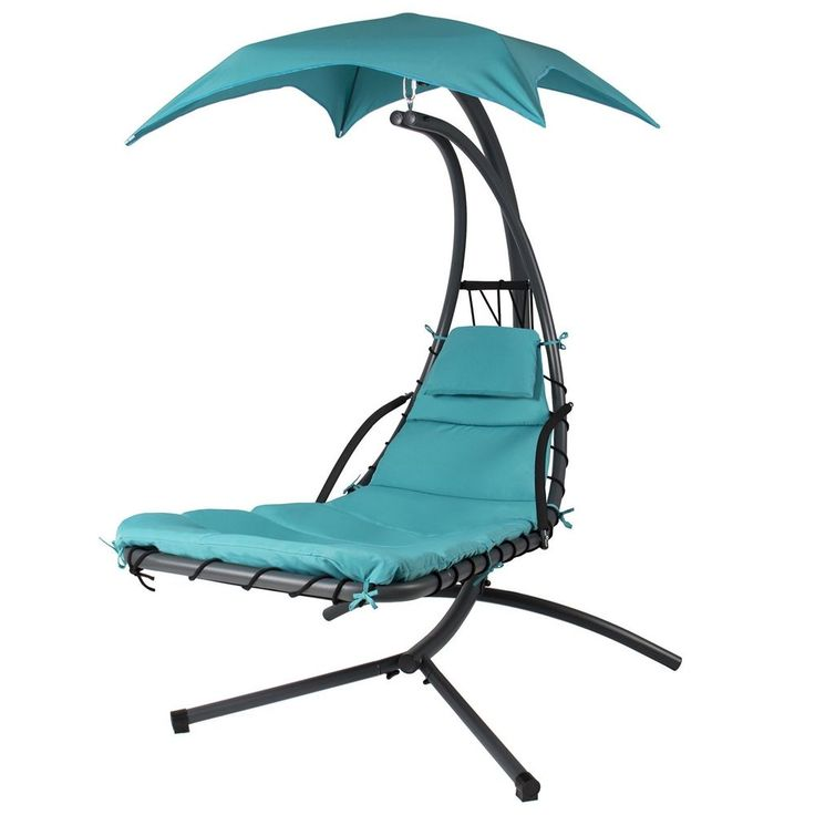 Patio Hammock Swing With Stand Air Seat Hanging Patio Furniture Sun Lounge Chair #PatioHammockSwing