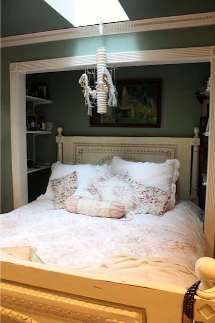 Bed in closet. Definitely an option for us right now. Great way to maximize space in a small studio.