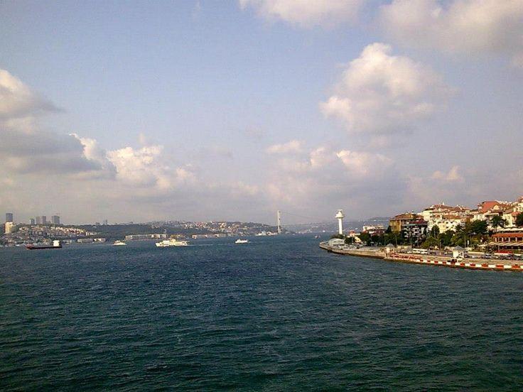 Kız kulesinden İstanbul Boğazı