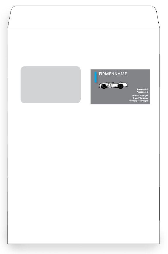 Kuvert Vorlagen Von Der Günstigen Online Druckerei