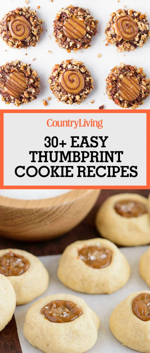 These easy thumbprint cookie recipes are a new twist on the easy-to-make holiday cookie classic. The salted caramel turtle thumbprint cookies are like candies with chocolate, chopped pecans and a pinch of sea salt. This chewy caramel recipe will have your Christmas party guests glued to the dessert table!