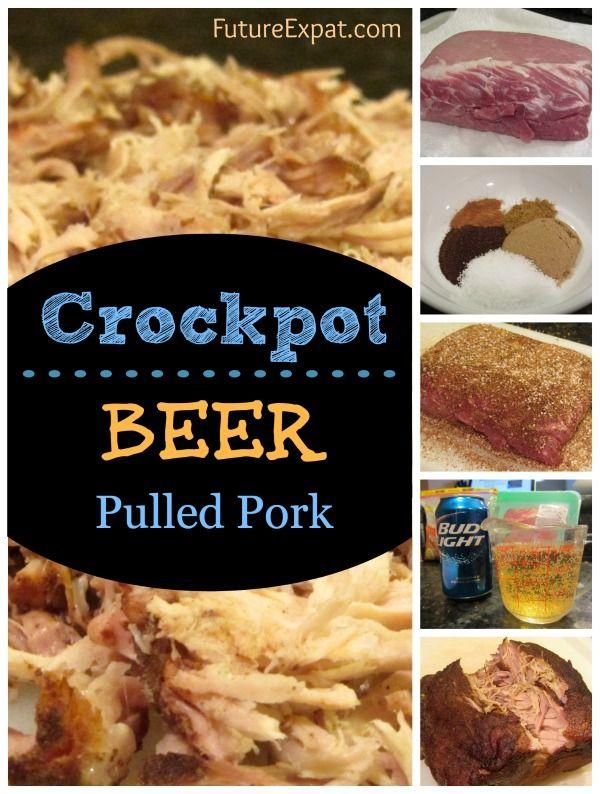 Crockpot Recipe: Beer Pulled Pork #recipe #crockpot