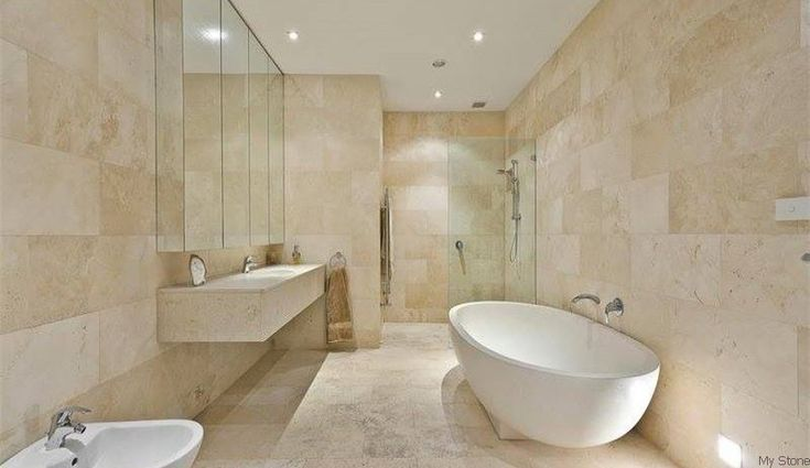 light travertine bathroom - Google Search