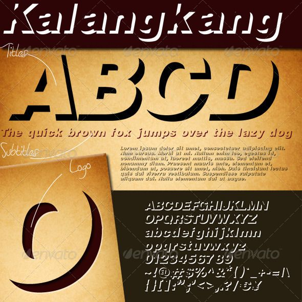 """Kalangkang """"Kalangkang"""" it means """"shadow"""" in sundanese/west java(Indonesia) language. Kalangkang is sans-serif typeface with a modern and the shadow shapes makes this font in 3D looks. This font in OTF and TTF formats and suits for Windows and Mac with have same good quality for both operation systems.  http://startupstacks.com/fonts/kalangkang.html - free download"""