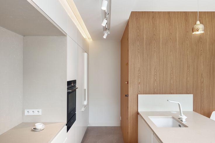 white kitchen, wine cabinet