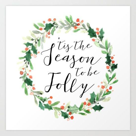 'tis the Season to be Jolly by McGovern Studio Holiday Art Print